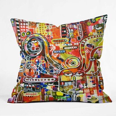 Robin Faye Gates It Came from Detroit Throw Pillow Size: 16 x 16