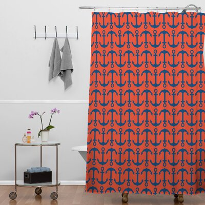 Andrea Victoria Anchors Ahoy Shower Curtain