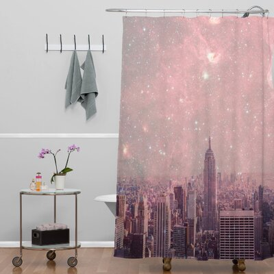 Bianca Green Covering Stardust New York Shower Curtain