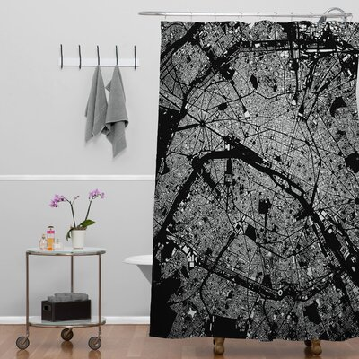 CityFabric Inc Paris Shower Curtain Color: Black