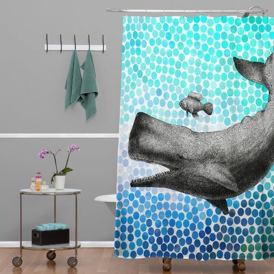 Garima Dhawan Dots New Friends Shower Curtain