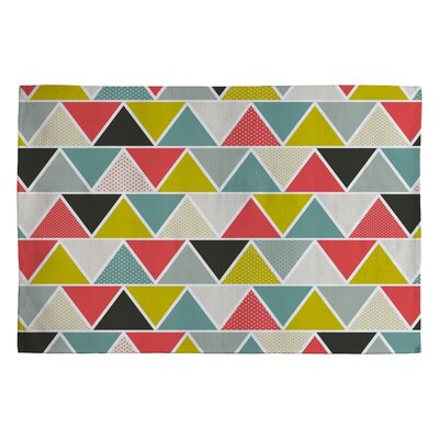 Heather Dutton Triangulum Black/Gray Geometric Area Rug Rug Size: 2 x 3