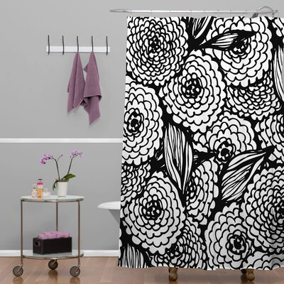 Julia Da Rocha Bouquet of Flowers Love Shower Curtain