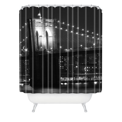 Leonidas Oxby Brooklyn Bridge 125 Extra Long Shower Curtain