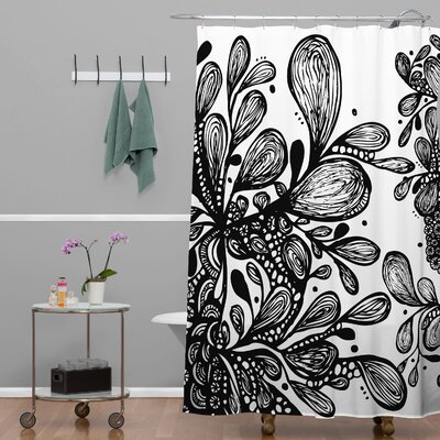 Julia Da Rocha Wild Leaves Shower Curtain