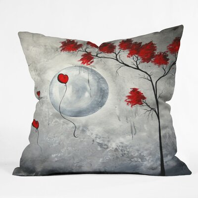Far Side Of The Moon Throw Pillow Size: 16 x 16