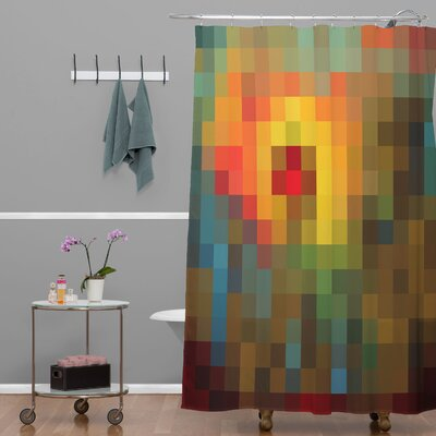 Madart Inc. Glorious Colors Extra Long Shower Curtain