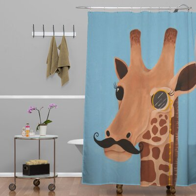 Mandy Hazell Gentleman Giraffe Shower Curtain