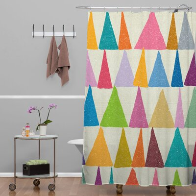 Nick Nelson Analogous in Bloom Shower Curtain