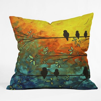 Madart Inc. Birds Of A Feather Throw Pillow Size: 20 x 20