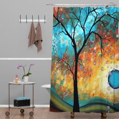 Madart Inc. Aqua Burn Extra Long Shower Curtain