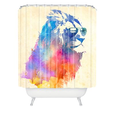 Robert Farkas Sunny Leo Extra Long Shower Curtain