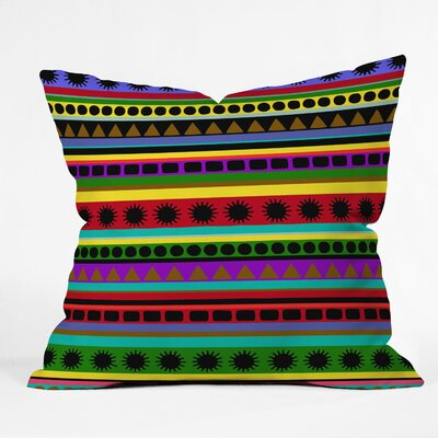 Romi Vega Heavy Pattern Throw Pillow Size: 18