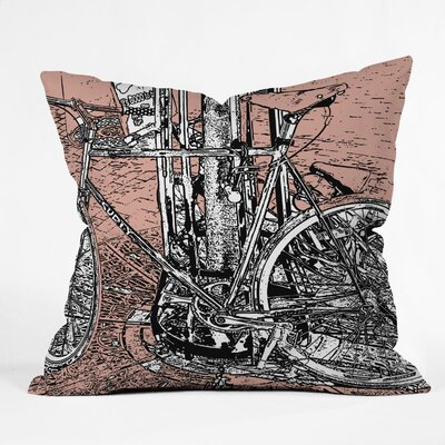 Romi Vega Bike Throw Pillow Size: 18 x 18