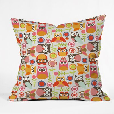 Valentina Ramos Cute Little Owls Throw Pillow Size: 16 x 16
