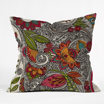 Valentina Ramos Random Flowers Throw Pillow Size: 16 x 16