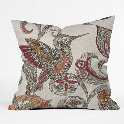 Valentina Ramos Flying Throw Pillow Size: 18 x 18
