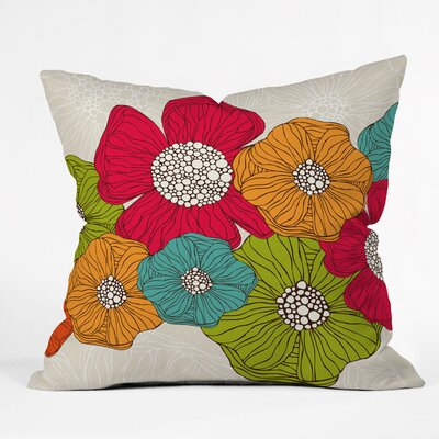 Valentina Ramos Flowers Throw Pillow Size: 18 x 18
