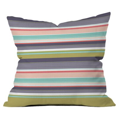 Wendy Kendall Multi Stripe Throw Pillow Size: Small
