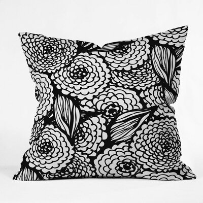 Julia Da Rocha Bouquet of Flowers Love Throw Pillow Size: Large