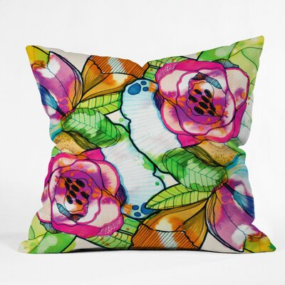 CayenaBlanca Throw Pillow Size: Large