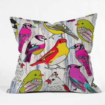 Mary Beth Freet Couture Home Birds Throw Pillow Size: Extra Large