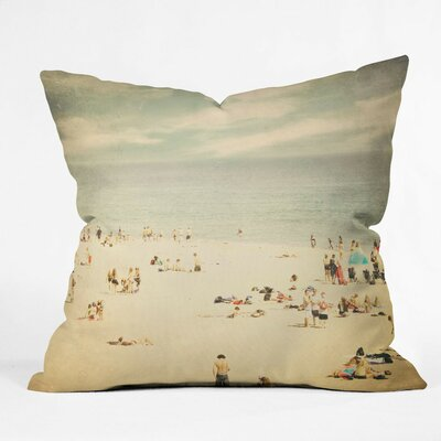 Shannon Clark Vintage Beach Throw Pillow Size: Small