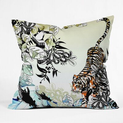 Aimee St Hill Tiger Throw Pillow Size: Small