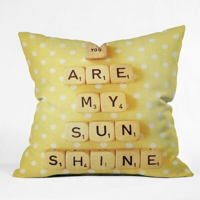 Happee Monkee Tiles You Are My Sunshine Throw Pillow Size: Medium