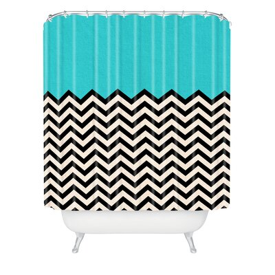 Bianca Green Follow The Sky Extra Long Shower Curtain