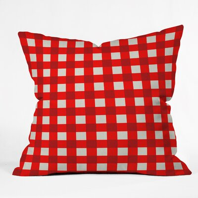 Holli Zollinger Red Gingham Indoor/Outdoor Throw Pillow Size: Large
