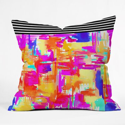Holly Sharpe Colorful Chaos Indoor/Outdoor Throw Pillow Size: Large