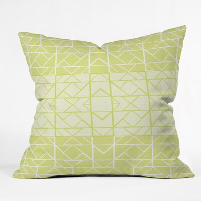 Gneural Shifting Pyramids Lemon Indoor/Outdoor Throw Pillow Size: Large
