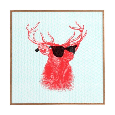 decorative accents - East Urban Home 'Young Buck' Framed Graphic Art - East Urban Home Wall Art