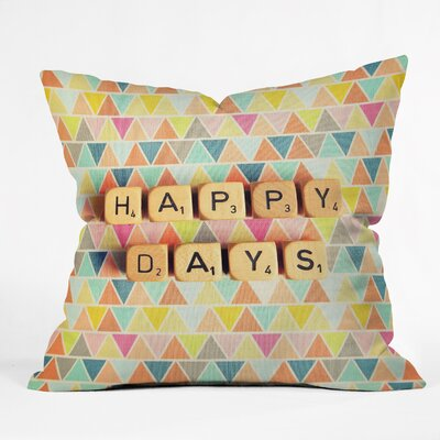Happee Monkee Happy Days Outdoor Throw Pillow Size: Large