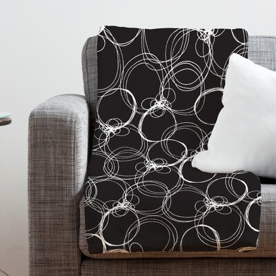 Rachael Taylor Circles Throw Blanket Size: Large, Color: Black White Circles 1