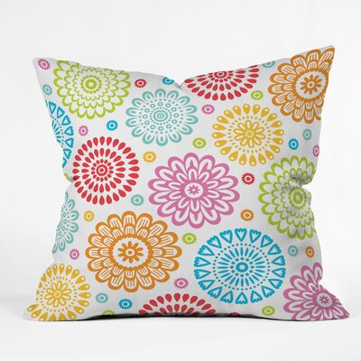 Andi Bird Sausalito Floral Indoor/outdoor  Throw Pillow Size: Large