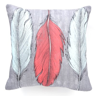 Wesley Bird Feathered Throw Pillow Size: 20