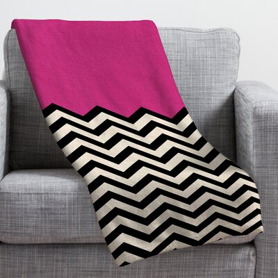 Bianca Green Throw Blanket Color: Pink Heart, Size: Medium