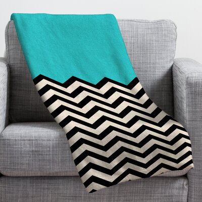 Bianca Green Throw Blanket Size: Medium, Color: Blue Sky