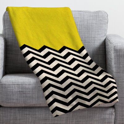Bianca Green Throw Blanket Color: Yellow Sun, Size: Medium