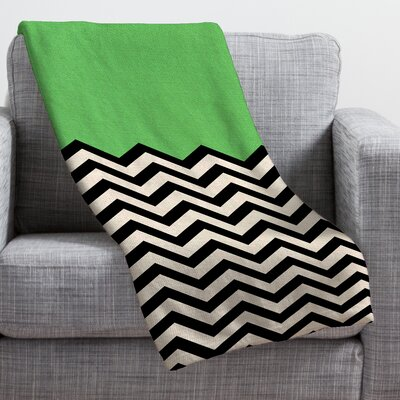 Bianca Green Throw Blanket Size: Large, Color: Green Way