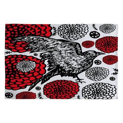 Julia Da Rocha Raven Rose Area Rug Rug Size: 2 x 3