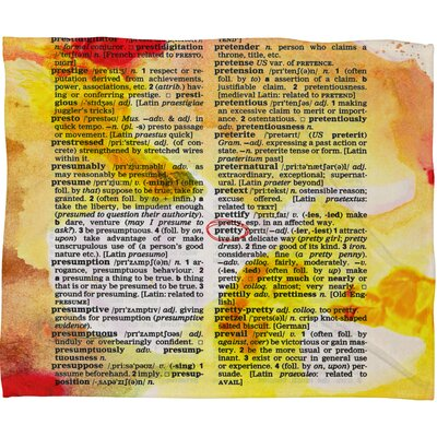 Susanne Kasielke Pretty Dictionary Art Fleece Throw Blanket Size: Large