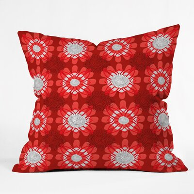 Julia Da Rocha Retro Flowers Throw Pillow Size: Large