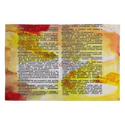 Susanne Kasielke Pretty Dictionary Art Rug Rug Size: 2 x 3