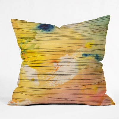 Susanne Kasielke Stripy Collage Throw Pillow Size: Large