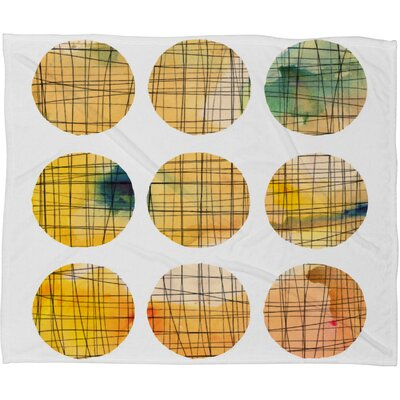 Susanne Kasielke Squared Circle Fleece Throw Blanket Size: Large