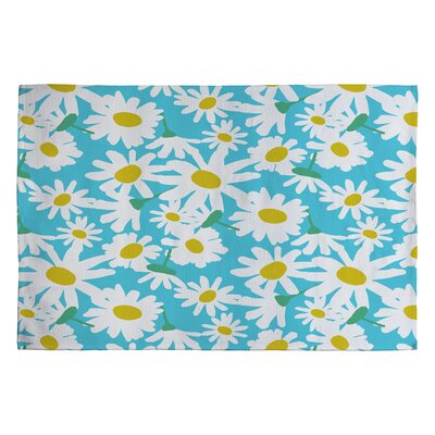 Zoe Wodarz Daisy Do Right Blue Area Rug Rug Size: 2 x 3