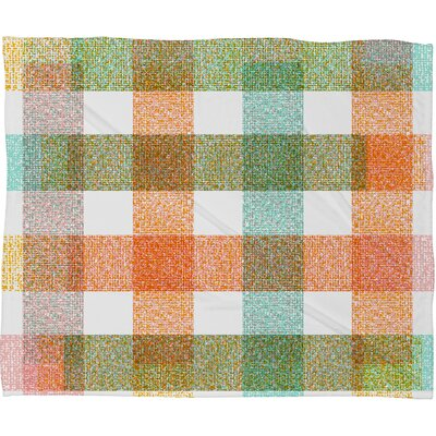 Zoe Wodarz Pastel Plaid Fleece Throw Blanket Size: Medium
